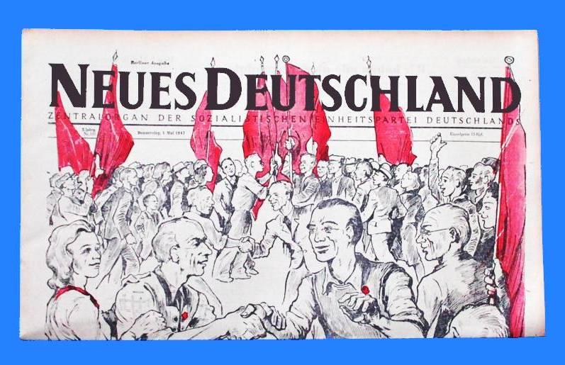 SED 68 67 DDR Neues Deutschland Juni 1955 Geburtstag Hochzeit 64 66 65 69